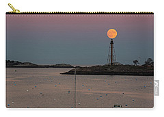 The 2016 Supermoon Balancing On The Marblehead Light Tower In Marblehead Ma Carry-all Pouch