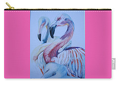 The 3 Flamingos Carry-all Pouch