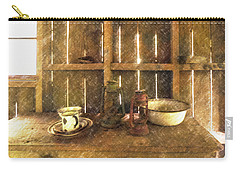 Carry-all Pouch featuring the digital art The Abandoned Cabin by Steve Taylor