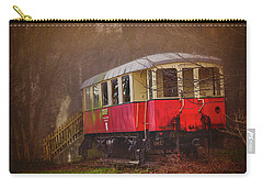 Carry-all Pouch featuring the photograph The Abandoned Tram In Salzburg Austria  by Carol Japp