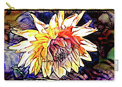 Carry-all Pouch featuring the digital art The Abstracted Dahlia  by Steve Taylor