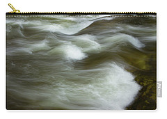 Carry-all Pouch featuring the photograph The Action On Top by Mike Eingle