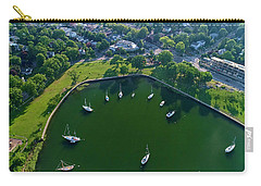 The Aerial View Of The Marina Of Mamaroneck Carry-all Pouch