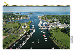 The Aerial View To The Mamaroneck Marina, Westchester County Carry-all Pouch