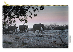Carry-all Pouch featuring the digital art The African Elephants by Ernie Echols