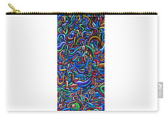 Carry-all Pouch featuring the painting The After Party, Another Party - Chromatic Abstract Painting - Ai P. Nilson by Ai P Nilson