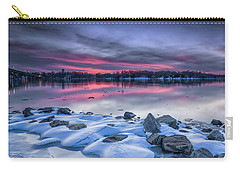 Carry-all Pouch featuring the photograph The Afterglow by Edward Kreis
