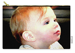 Carry-all Pouch featuring the photograph The Age Of Innocence by Barbara Dudley