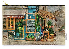 The Albar Coffee Shop In Alvor. Carry-all Pouch by Brian Tarr