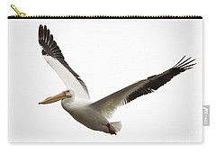 Carry-all Pouch featuring the photograph The Amazing American White Pelican by Ricky L Jones