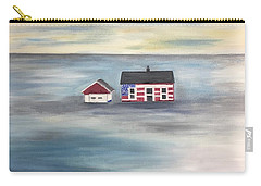 Carry-all Pouch featuring the painting The American Dream And Climate Change by Barbara Anna Knauf