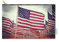 The American Flag Proudly Stands Carry-all Pouch by Luther Fine Art