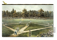 The American National Game Of Baseball Grand Match At Elysian Fields Carry-all Pouch by Currier and Ives