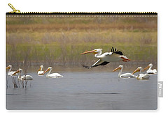 The American White Pelicans Carry-all Pouch by Ernie Echols