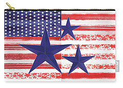 Carry-all Pouch featuring the photograph The Americana Flag by Colleen Taylor