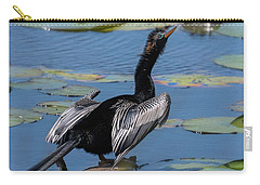 Carry-all Pouch featuring the photograph The Bird, Anhinga by Cindy Lark Hartman