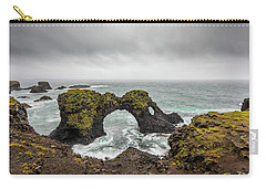 Carry-all Pouch featuring the photograph The Arch At Gatklettur by Rikk Flohr