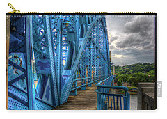 Carry-all Pouch featuring the photograph The Archway Market Street Bridge John Ross Bridge Art by Reid Callaway