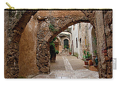 Carry-all Pouch featuring the photograph The Archways Of Villecroz by Jacqi Elmslie