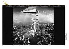 The Arrival Black And White Carry-all Pouch by Marian Voicu