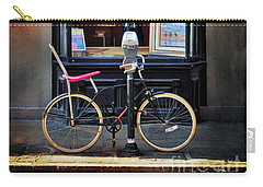 Carry-all Pouch featuring the photograph The Art Gallery Bicycle by Craig J Satterlee