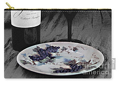 The Art Of Wine And Grapes Carry-all Pouch by Sherry Hallemeier