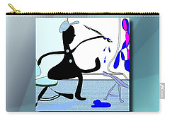Carry-all Pouch featuring the digital art The Artist 2 by Iris Gelbart