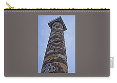 Carry-all Pouch featuring the photograph The Astoria Column by Thom Zehrfeld