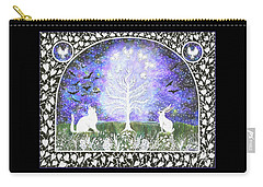 Carry-all Pouch featuring the painting The Attraction by Lise Winne