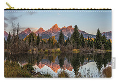 Carry-all Pouch featuring the photograph The Autumn Glow At Schwabacher's by Yeates Photography