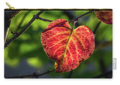Carry-all Pouch featuring the photograph The Autumn Heart by Bill Pevlor