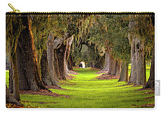 Carry-all Pouch featuring the photograph The Avenue Of Oaks 4 St Simons Island Ga Art by Reid Callaway