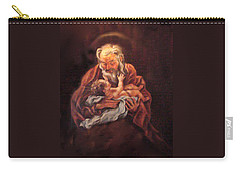 Carry-all Pouch featuring the painting The Baby Jesus - A Study by Donna Tucker