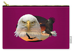 Carry-all Pouch featuring the photograph The Bald Eagle 2 by Shane Bechler