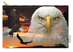 Carry-all Pouch featuring the photograph The Bald Eagle by Shane Bechler