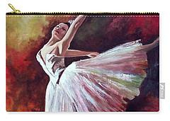 The Dancer Tilting - Adaptation Of Degas Artwork Carry-all Pouch