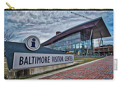 Carry-all Pouch featuring the photograph The Baltimore Visitors Center by Mark Dodd