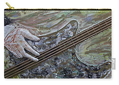 Carry-all Pouch featuring the painting The Bass Player by John Stuart Webbstock