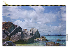The Baths Virgin Gorda National Park Triptych Carry-all Pouch by Olga Hamilton