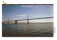 Carry-all Pouch featuring the mixed media The Bay Bridge- By Linda Woods by Linda Woods