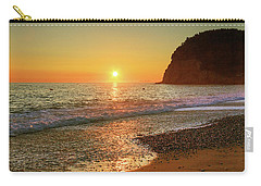 the beach and the Mediterranean sea in Montenegro in the summer at sunset Carry-all Pouch