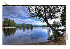 Carry-all Pouch featuring the photograph The Beach At Covewood Lodge by David Patterson