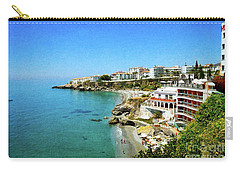 Carry-all Pouch featuring the photograph The Beach - Nerja Spain by Mary Machare
