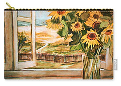 The Beach Sunflowers Carry-all Pouch