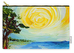 Carry-all Pouch featuring the painting The Beach by Teresa Wegrzyn