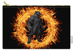 The Beast Emerges From The Ring Of Fire Carry-all Pouch