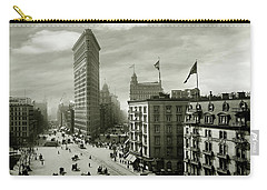 The Beautiful Flatiron Building Circa 1902 Carry-all Pouch by Jon Neidert
