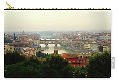 Carry-all Pouch featuring the photograph The Beauty Of Florence  by Alan Lakin