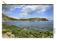 Carry-all Pouch featuring the photograph The Beauty Of Lulworth Cove by Ian Middleton