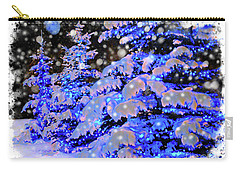 The Beauty Of Winter II - Christmas Card 2016 - 7 Carry-all Pouch by Al Bourassa